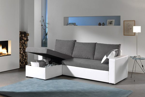 Bestmobilier Arizona canapé d'angle convertible
