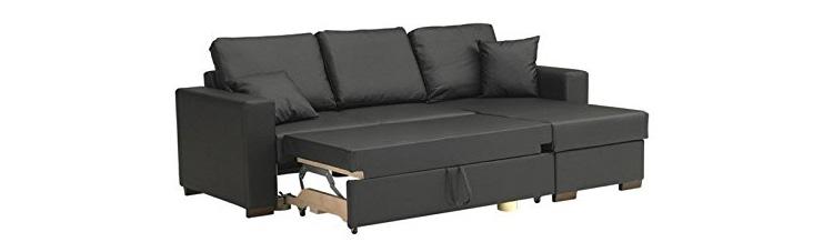 Canapé d'angle convertible PARIGI en tissu enduit polyuréthane avis
